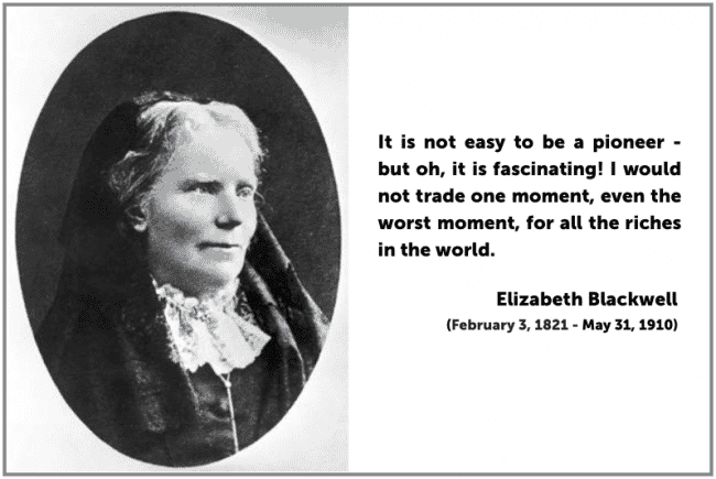 a history of elizabeth blackwell the first women doctor As the first woman to earn a medical degree in the united states and the first to be listed on the british medical register, elizabeth blackwell had to overcome rejection, prejudice, and social stigma to change the face of medicine.